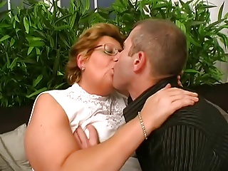 Hungarian Glasses-BBW-Granny fucked at the end of one's tether Young Challenge