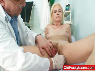 Starved crinite granny woman doctor treatment