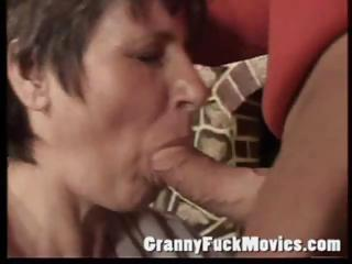 Elderly slut sucking learn of
