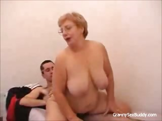 Granny up glasses Gets Fucked