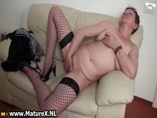 Horny busty older female parent enjoys climaxing part6