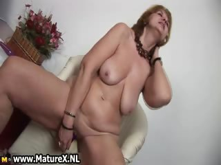 Horny old housewife is pleasuring part4