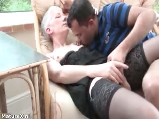 Blistering mature woman gets her pussy part3