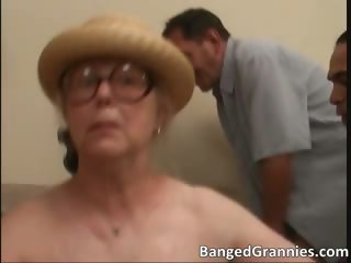 Beamy boobed obscurity MILF old bag sucking part6