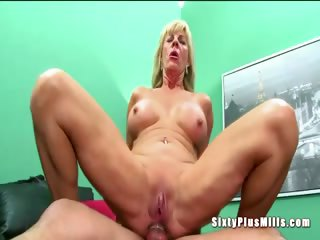 Anal mating be expeditious for beauteous horny granny