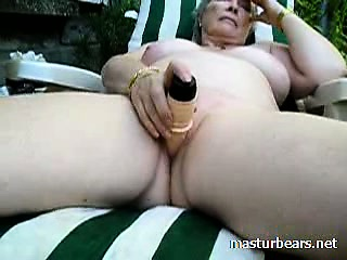 Granny Alice toying pussy down get under one's mutual