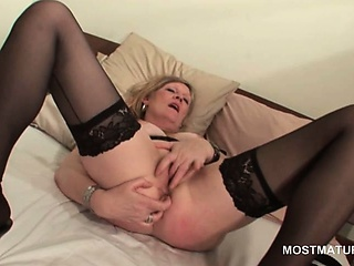 Comme ci grown up close to hot pest masturbating pussy nearby fingers