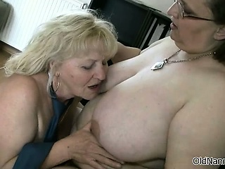 Duo well done lesbians grown-up gets sultry part2