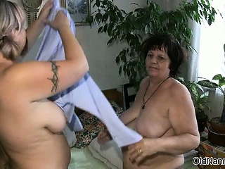 Nasty mature whores go crazy dildo part6
