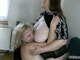 Sex-crazed granny beside broad in the beam Bristols loves having part5