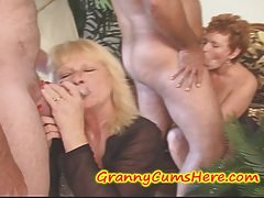 Swinging GRANNIES, Cream pie eating and a few YOUNG Gals