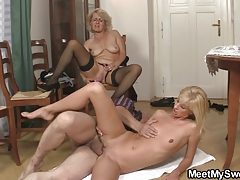 She gets lured into threeway by his parents