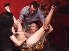 Heavy pierced granny MILG fisted and porked hard