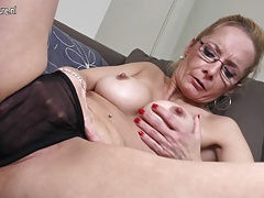 Old but still very red-hot and naughty grannie