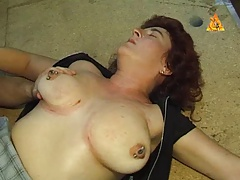 Heavy pierced MILF slave with lots puss rings predominated