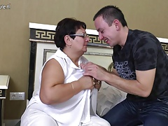 Taboo mature Mummy tears up her young boy