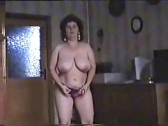 Excellent striptease of hairy mature bitch. Amateur older
