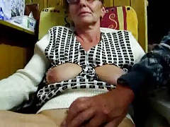 Granddad masturbates his wifey with fingers