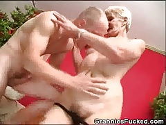 Granny Fucked And Plays With Her Dentures