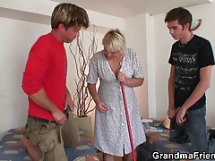 friends bang very elderly granny