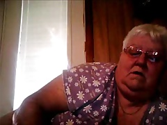 Webcam show from Plus-size Granny