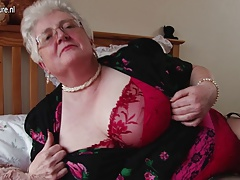 Real giant granny with giant chest