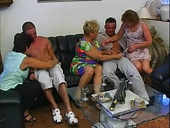 3 GRANNIES &  MATURES FUCKED BY 2 Studs