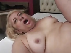 Granny Victoria Santos Fucked in the Ass by Young Dude