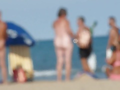 Cumming on Nudist Beach  with passers by watching!