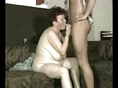 Grandma having fun with young mens. Amateur older