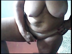 Sexy grandmother fingering