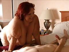 SSBBW Grandmother Sixty-nine With Youthfull Boy