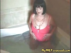 My Mummy Exposed Kinky granny wife toying with her