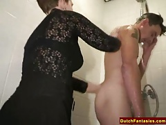 Gross Dutch Grannie Penetrates Office Boy