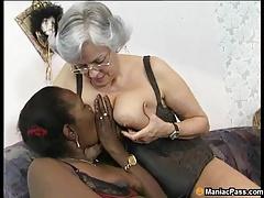 Multiracial mature  orgy