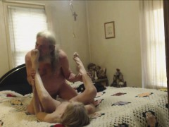 Grandmother and Grandpa having sex on cam