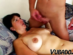 Youthful boy bangs sexy and curvy MILF!