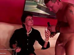 Kinky grandma  by youngs and eat internal ejaculation