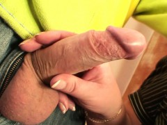 Busty elder lady picked up for cock railing