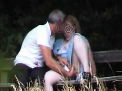 Amateur sex on park bench Senaida from 1fuckdatecom
