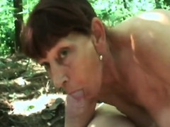 Grandma forest sucking thick dick fucking doggystyle