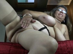 Stylish grandmother with big tities and  Rossie from 1fuckdatecom