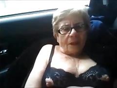 Splashing granny