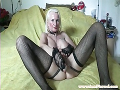 I am pierced grandmother with pussy piercings and chains