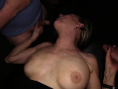 Nasty aged Granny Gilf gets gangbanged with creampies