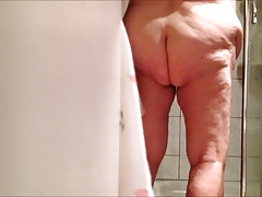 BBW grannie 86 after the shower part 2