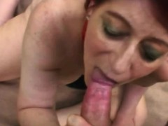 Sandy-haired grandmother Tamara outdoor sucking missionary