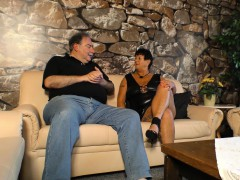 Gonzo OMAS - Mature tatted German BBW gets plumbed and cummed on