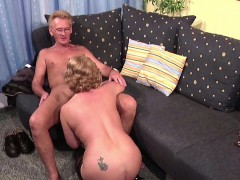 German Old Couple in First Time  Casting Roleplay