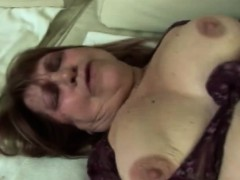 Obese platinum-blonde granny gets banged by younger rod